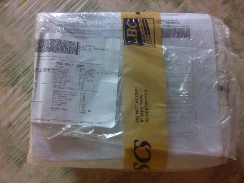 LBC Lazada Typical Packaging