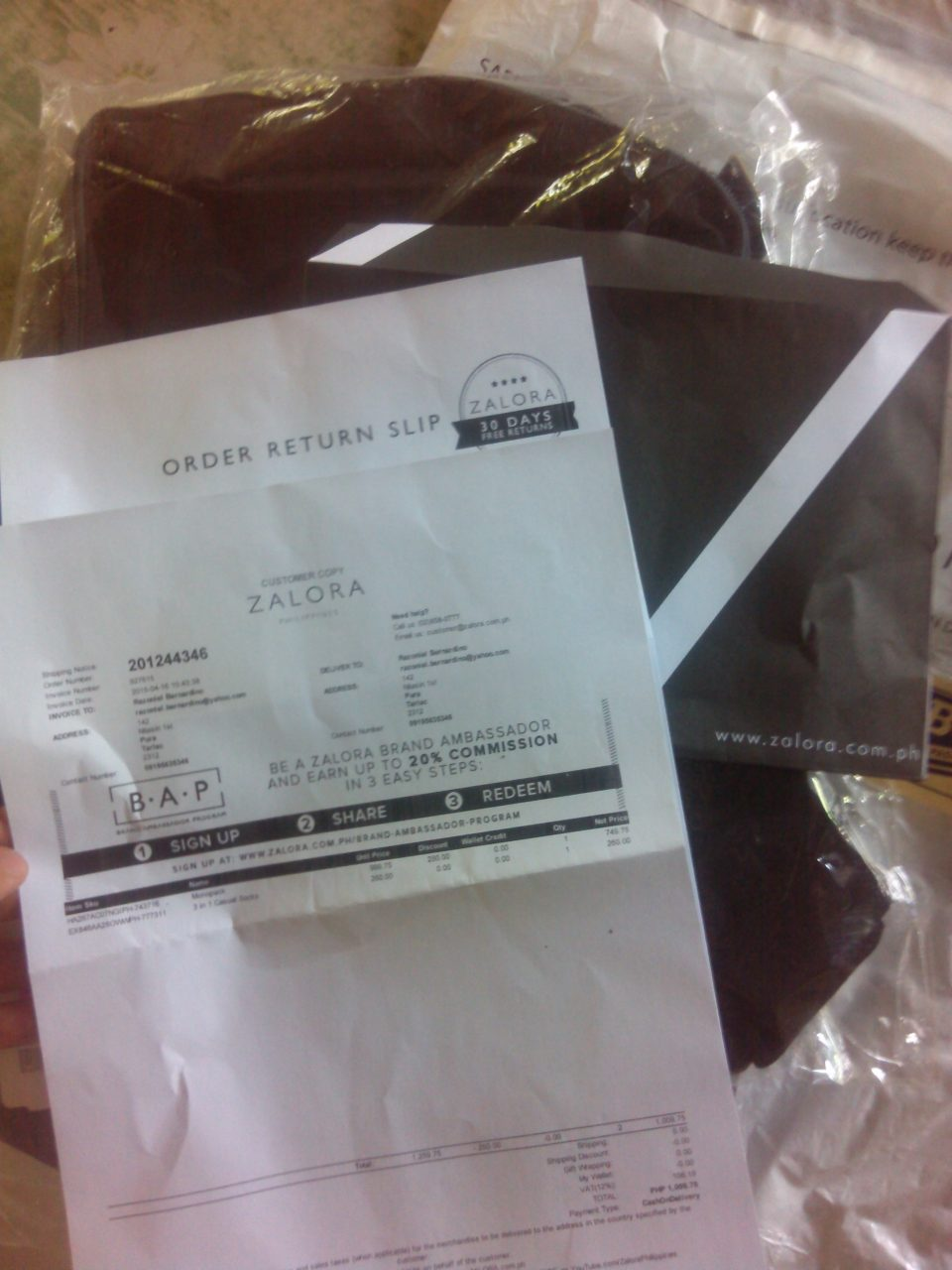 Zalora Black Envelope