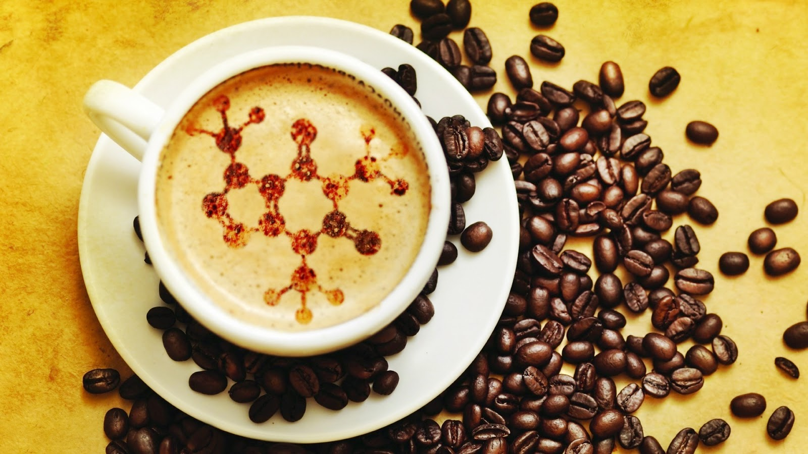 chemistry-structure-in-coffee-and-beans
