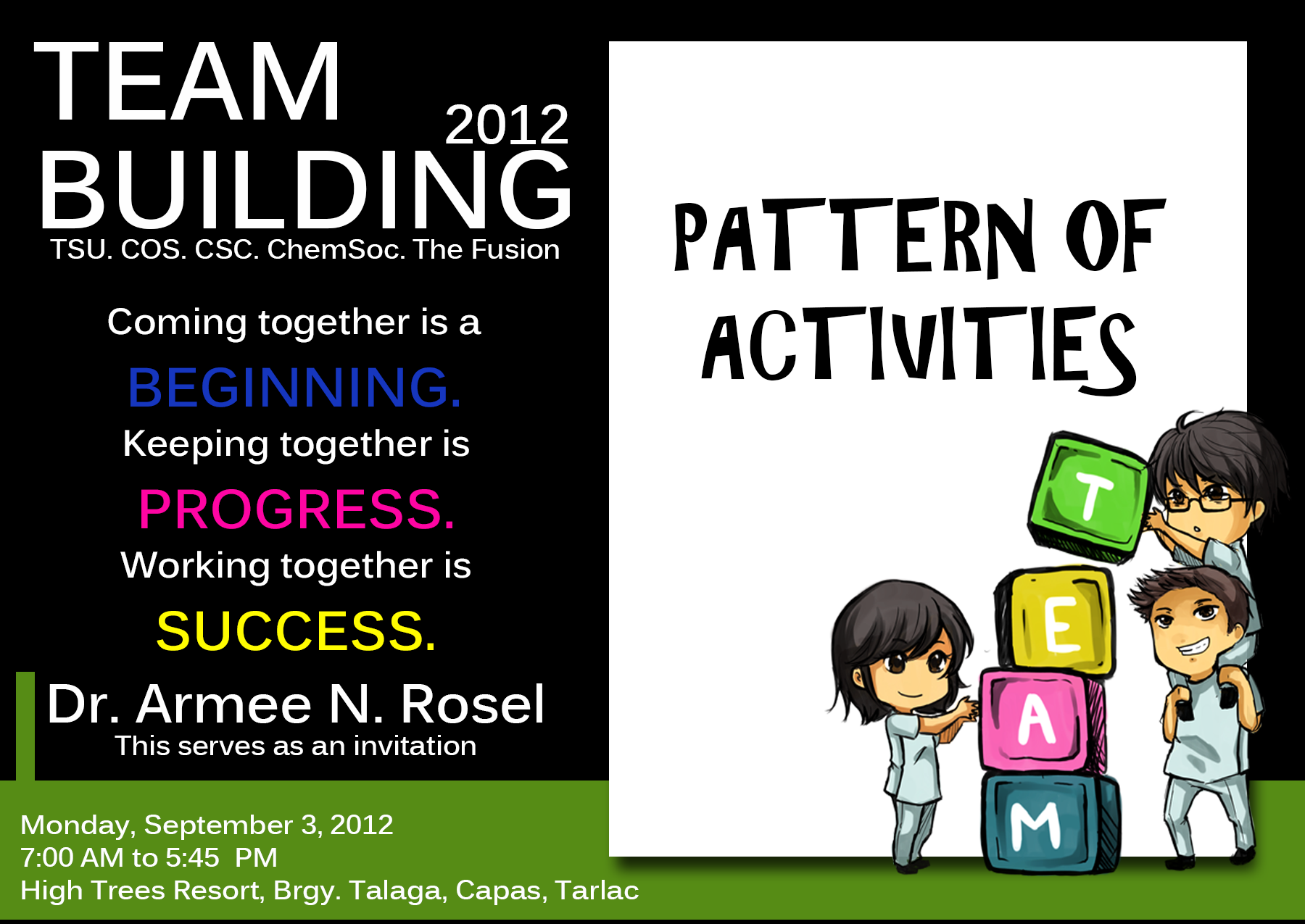 Sample Invitation For Team Building Event. Sheridan Student Union ...