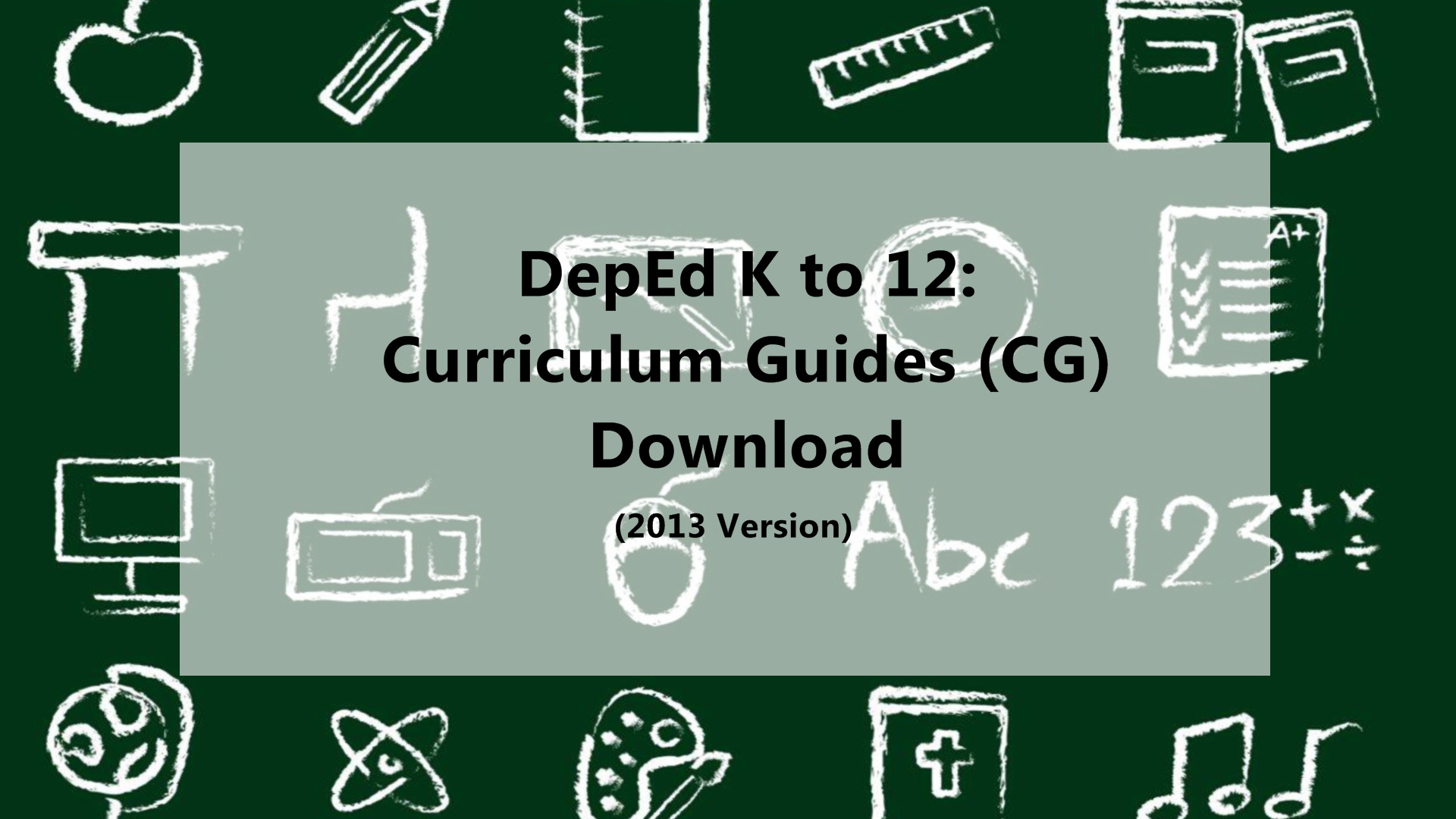 DepEd K To 12: Curriculum Guides Download