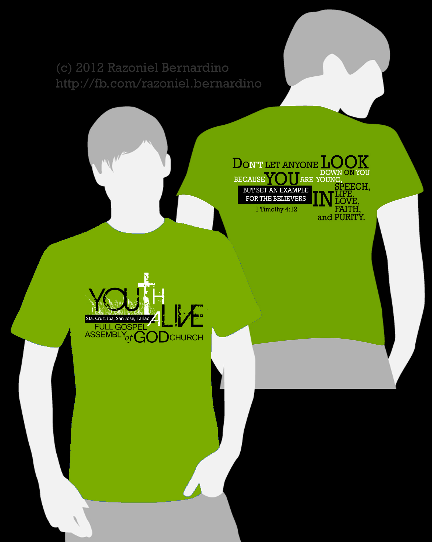 T shirt design youth - Youthalivefinal