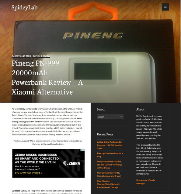 Pineng Power bank Review Article