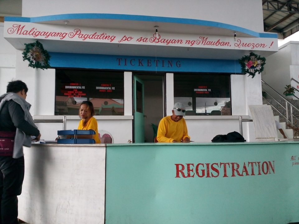 Registration Desk at Mauban's Environmental Office.