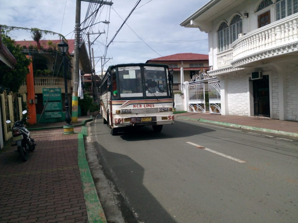 NCR Rienton Line bus passing the road of Mauban, Quezon.