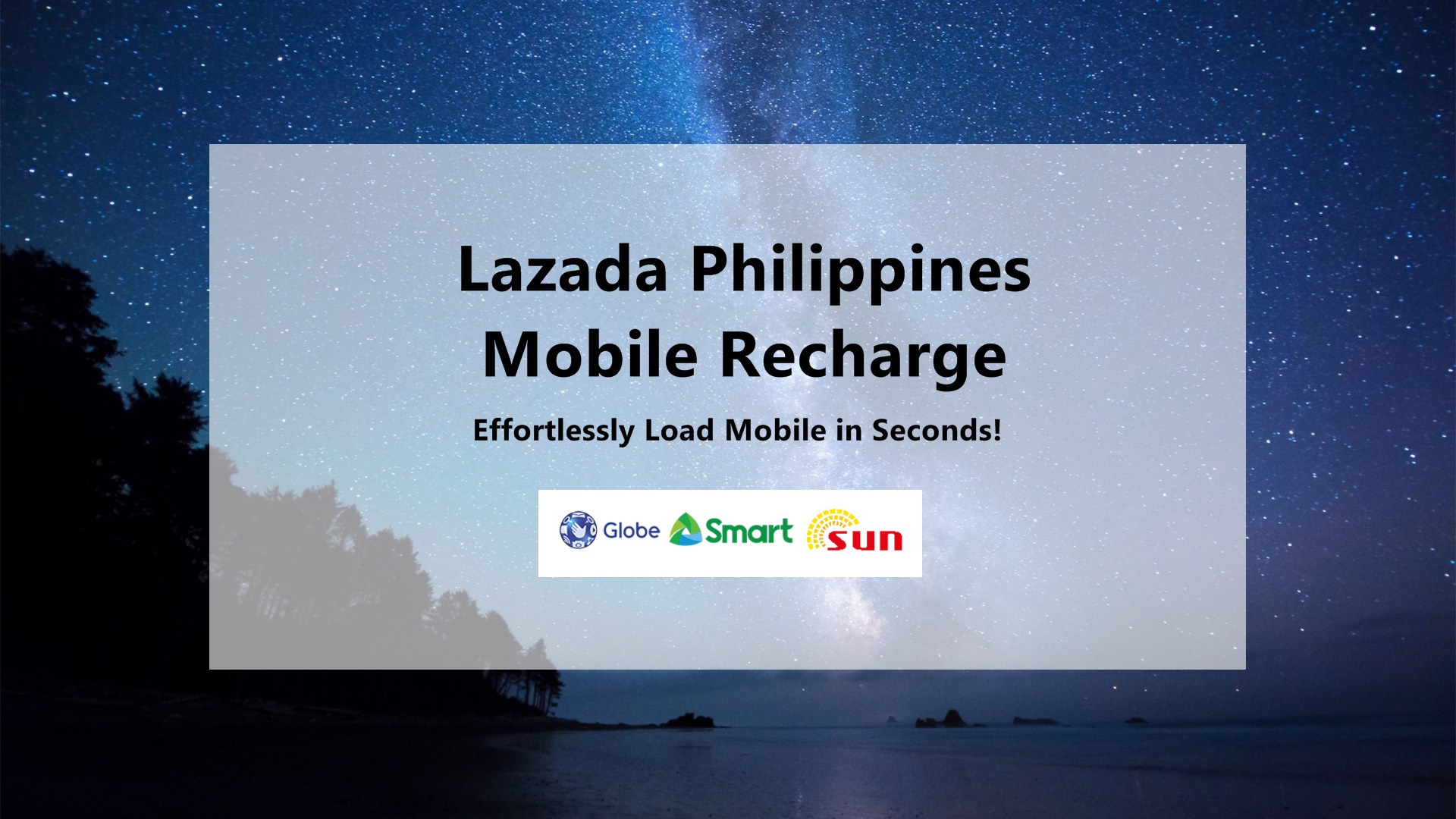 Globe Load Now Available in Lazada Mobile Recharge