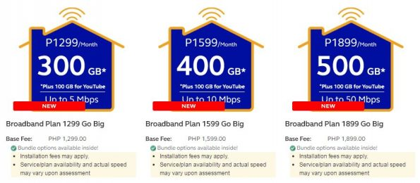 Globe At Home Broadband Plans 2017
